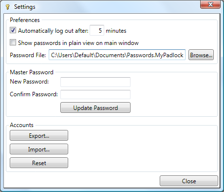 MyPadlock Password Manager 1.0 full
